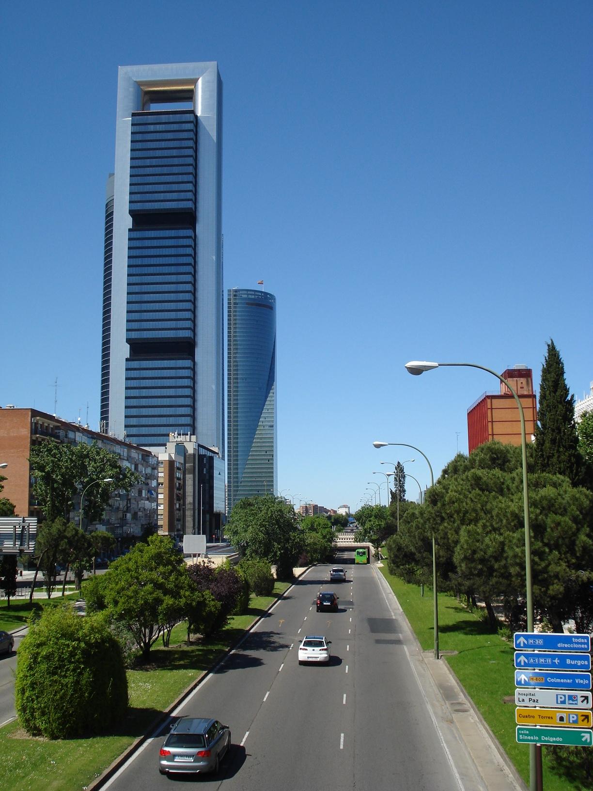 As quatro torres de madrid um brasileiro na espanha - Caja de arquitectos madrid ...